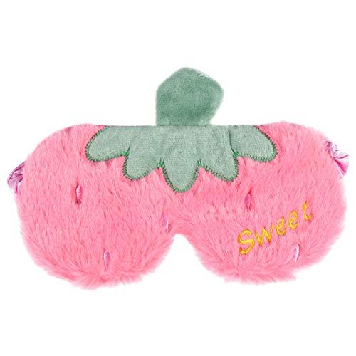 VALICLUD Schlafmaske Fuzzy Eye Cover Flauschige Schlafmaske Süße Augenbinde für Kinder Mädchen Frauen