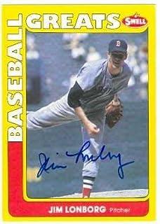Jim Lonborg autographed Baseball Card (Boston Red Sox 1967 Cy Young Winner) 1990 Swell #57 Baseball Greats