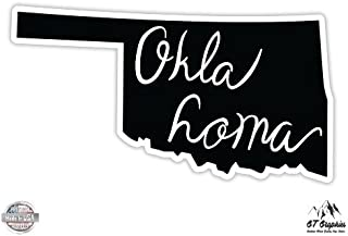 GT Graphics Oklahoma State Shape - Vinyl Sticker Waterproof Decal