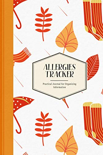 Allergies Tracker: Practical Journal for Organizing Information | Windy Autumn Day Pattern