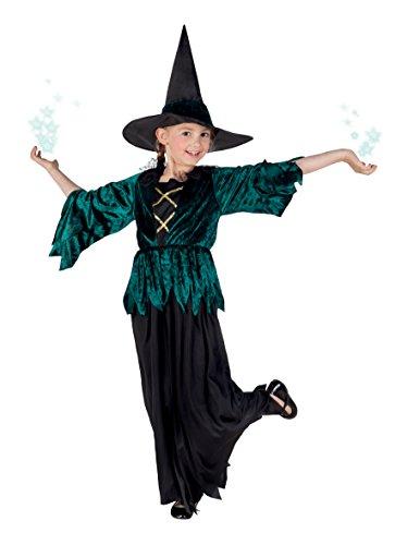 Boland- Costume Bambina Streghetta Gothic Witch, Verde/Nero, 4-6 anni, 78036