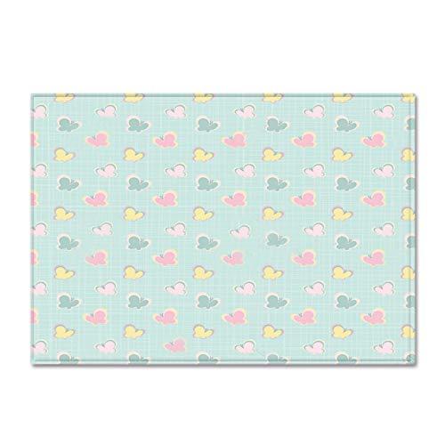 Gruesa alfombra de terciopelo suave antideslizante alfombra inferior niño's Room Play Mat Nursery Floor Pad Cartoon Butterfly Pattern Runner Alfombra para el dormitorio de la sala de estar,120 * 160cm