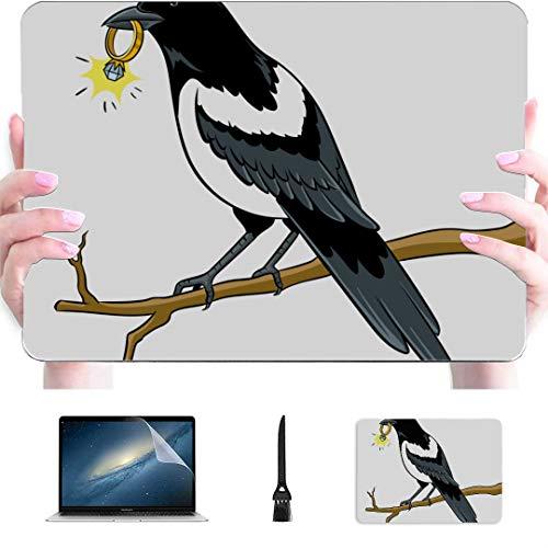 Case MacBook Pro Auspicious Bird Magpie Bird Plastic Hard Shell Compatible Mac Air 13' Pro 13'/16' MacBook Pro Computer Case Protective Cover for MacBook 2016-2020 Version