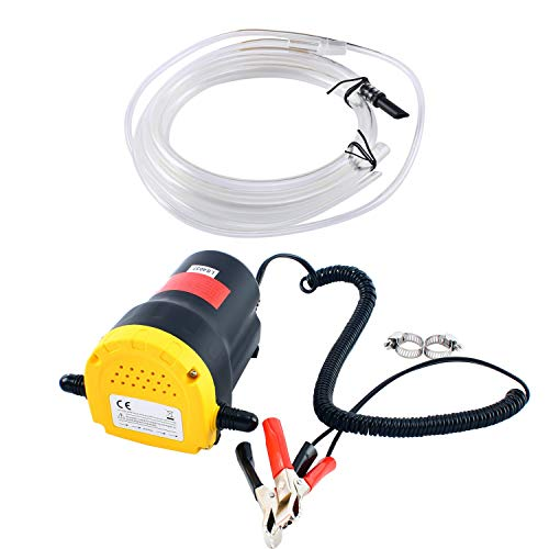 DasMarine 12V 60W Oil Change Pump Extractor, Oil/Diesel Fluid Pump Extractor Scavenge Oil Change Pump Transfer Suction Transfer Pump + Tubes Truck Rv Boat ATV