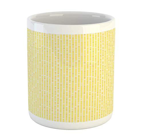 N\A Taza Amarilla, patrón de Azulejos de Colores Vibrantes, diseño de Cuadrados pequeños, Estampado temático de geometría, Taza de café de cerámica para Bebidas de té de Agua, 11 oz, Multicolor