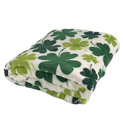 Lowest Price! NT St Patricks Day Shamrock Plush Throw Blanket and Leprechaun Hat Picks
