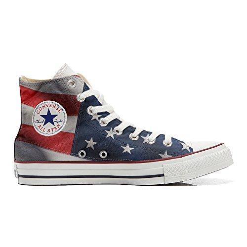 Original Sneakers Personalizadas (Producto Hecho a Mano) Zapatos Personalizados (Producto Handmade) Bandera Americana (USA) - TG38