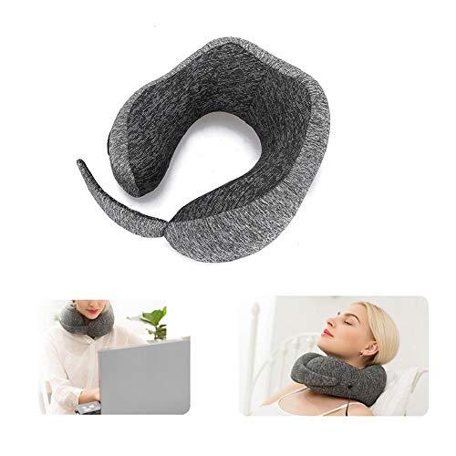 Almohada cervical en forma de U, eléctrica y con función de calor, soporte para el cuello de 360°, para aliviar el dolor [sin alas]
