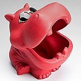 Hippo Cenicero cerámica mate a prueba viento,anti-cenizas volantes,adornos creativos decoración hogar,contenedor escritorio,caja almacenamiento para oficina,sala estar,jardín,regalos coche,ceniceros