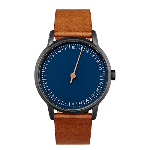 slow Round 11 - Brown Leather, Anthracite Case, Blue Dial