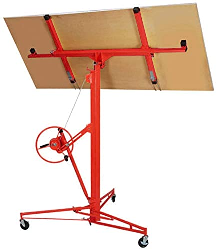 11' Drywall Lift Panel Hoist Jack Lifter Construction Tools w/Adjustable Telescopic Arm 5