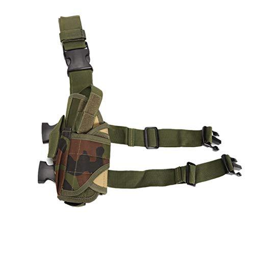Sacs Polyester Tactique Jambes Molle Leg Holster Réglable Armée Pistolet Pouch Jambe Cuisse Holster Sports De Plein Air Randonnée Sac Accessoires Militaire