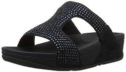 Super Navy Rokkit Crystal Slide Sandal