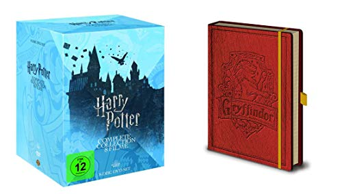 Harry Potter - Complete Collection 1 2 3 4 5 6 7 8 + Notizbuch 8 DVD Box Geschenk Set LIMITED EDITION