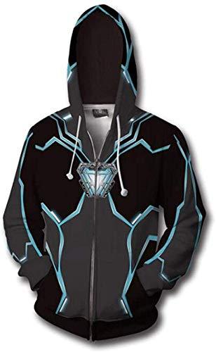 Mempire Sweat à Capuche Homme Iron Man Inspiré Hoodie Veste Wild Hunt Zipper Pullover Sweatshirt Drawstring (S)