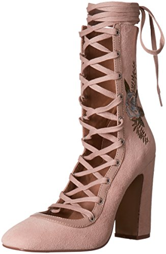 Chinese Laundry Women's Sylvia Lace-up Dress Pump, Blush Suede, 6.5 M US