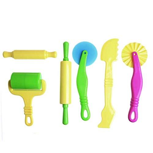 advancethy - Set di 6 strumenti per il gioco di argilla e pasta in plastica, per bambini dai 3 anni in su.