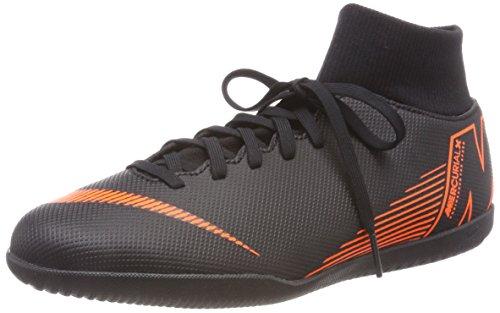 Nike Unisex-Erwachsene Mercurial Superfly X 6 Club IC AH7371 08 Fitnessschuhe, Mehrfarbig (Black/Total Orange-W 081), 45 EU