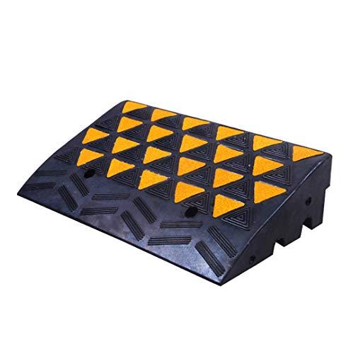 OrangePlas Rubber Curb Ramp 6' High 23.6' Wide (Heavy Duty Rubber Ramp, Single Ramp)