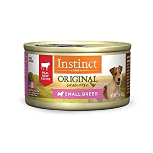 Instinct Small Breed Dog Food, Original Recipe Grain Free Wet Dog Food Canned