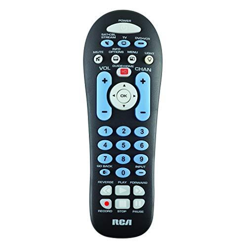 RCA RCR313BE Big Button Three-Device Universal Remote, Black