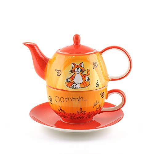 Mila Keramik Tee-Set: Tea for One, Oommh Katze | MI-99038