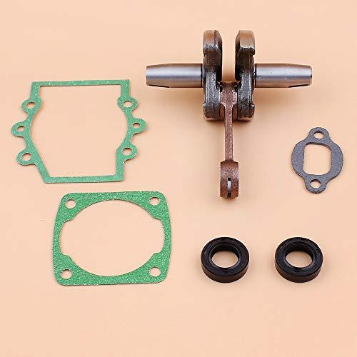 Sello de aceite del cigüeñal Motor Kit de juntas del motor Ajuste Subaru Robin NB411 CG411 NB 411 CG 411 Recortadora de 2 tiempos Weedeater Desbrozadoras