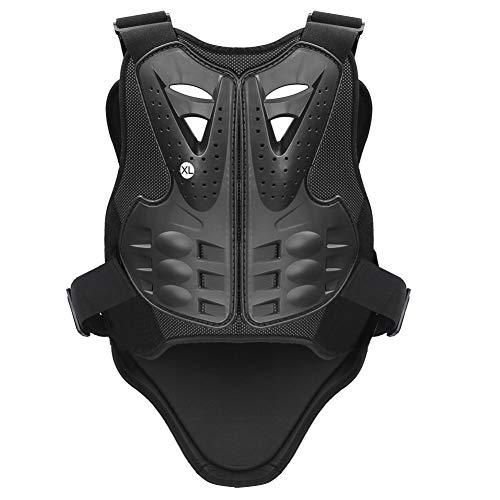 PELLOR Rennsport Weste Wirbelsäule Brustpanzer Schutzausrüstung Radfahren Motorrad WesteSkifahren Reiten Skateboarding Brust Rücken Beschützer Anti-Fall Gear, Schwarz, S