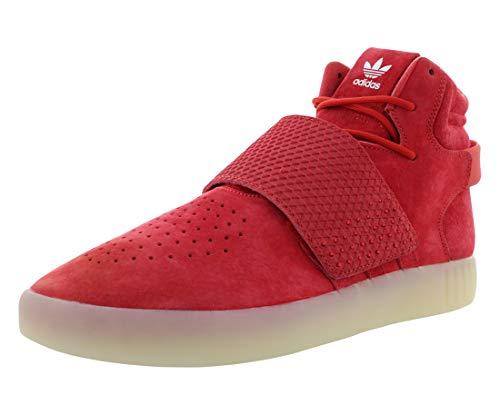 adidas Herren Tubular Invader Strap Rot/Vintage Weiß High-Top Leder Basketballschuh – 11 M