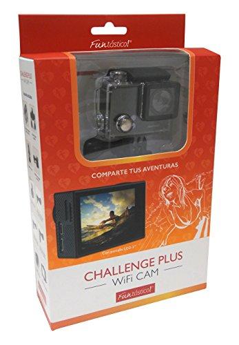 'Vexia Challenge Plus Wifi sportcamera met full HD 2-display, zwart