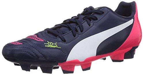 Puma evoPOWER 4.2 FG, Calcio scarpe da allenamento uomo, Blu (Blau (peacoat-white-bright plasma 01)), 41
