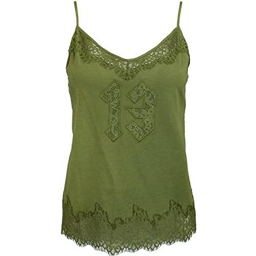 PUMA x Rihanna Fenty - Ropa de dormir para mujer con ribete de encaje, color verde oliva 574301 02 R13B, Oliv, M