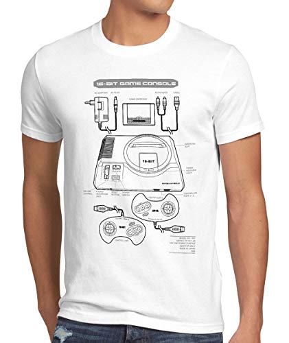style3 Mega 16-bit Camiseta para Hombre T-Shirt Gamer Classic Retro Videoconsola Sonic...