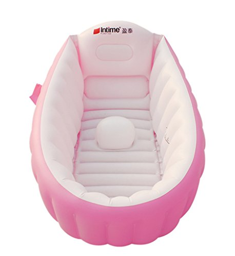 EOZY Baby Kids Kleinkinder Aufblasbare Badewanne Planschbecken Pool Schwimmbecken Tragbar Pink