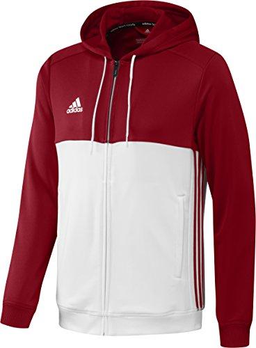 adidas Herren Hoody T16 Kapuzenpullover, Rot/Weiß, M