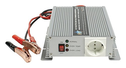 HQ HQ-INV600C/12F - Inversor (600 W, 12 V-230 V) con Cargador