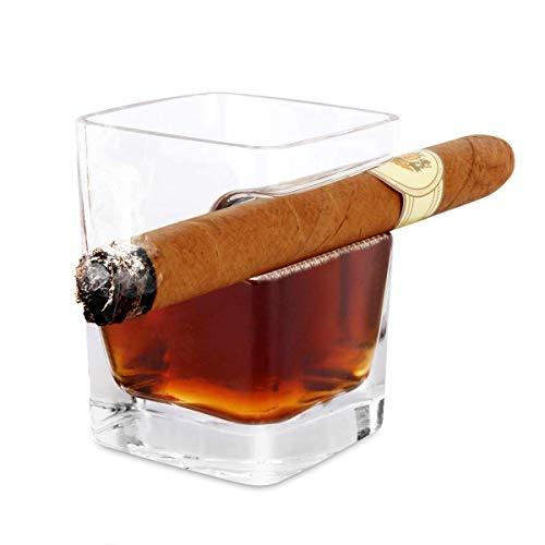 Le verre à whisky porte-cigare