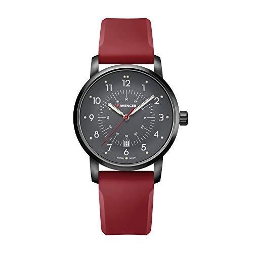 Wenger Hombre Avenue - Reloj Suizo de Cuarzo analógico de Acero Inoxi