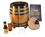 Cigar Barrel Humidor Kit With Flavored Alcohol Essence To Flavor Your Cigars At Home