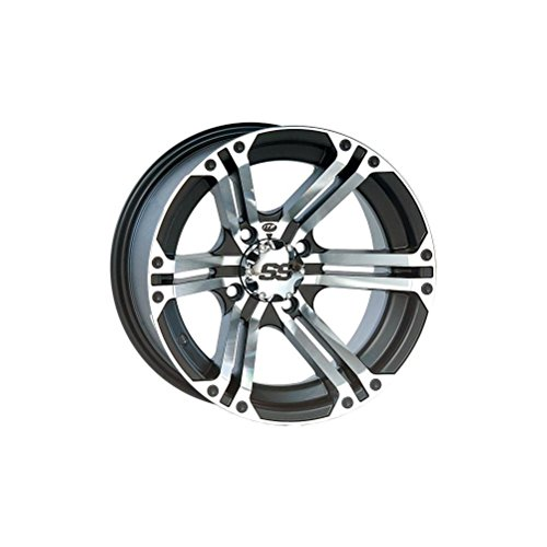 ITP 1228364404B SS ALLOY SS212 Black Wheel with Machined Finish (12x7