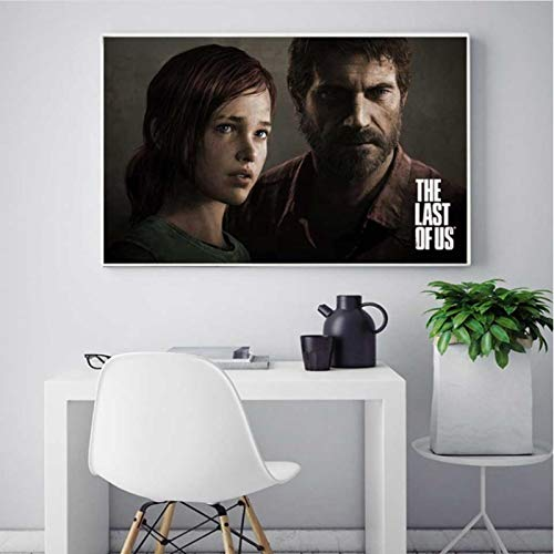lubenwei The Last Of Us Game Poster Print Wall Art Zombie Survival Horror Action HD Canvas Painting Modern for living room Home Decor 40x50cm No frame AW-1496