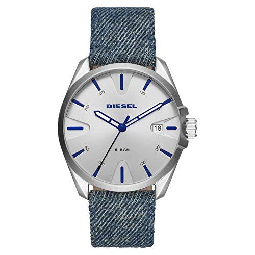 Diesel Herren-Uhren Analog Quarz One Size Silber 32015121