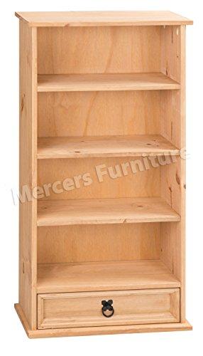Mercers Furniture Corona 1 Schublade DVD-Rack, Holz, Antique Wax, 52 x 18 x 103 cm