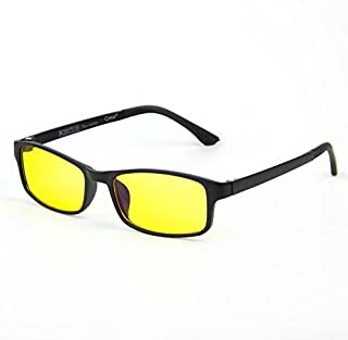 Cyxus Blue Light Blocking [Lightweight TR90] Glasses for Anti Eye Strain Headache Computer Use Eyewear Men/Women (lightweight flexible)