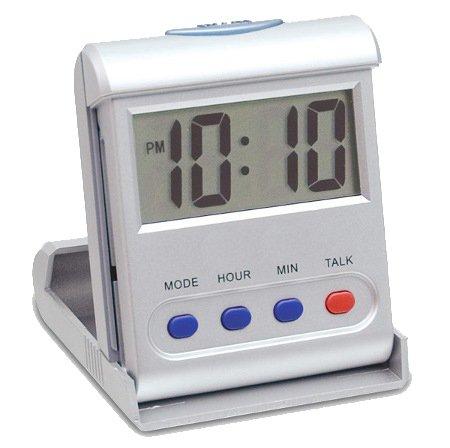 CursOnline Mini reloj digital parlante en italiano cómodo despertador de viaje para personas con discapacidad visual ancianos
