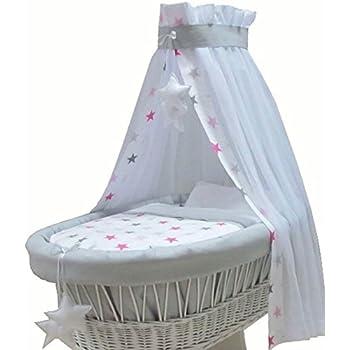teilig Baby Ausstattung f/ür Bollerwagen Stubenwagen Textile Garnitur Punkten 7