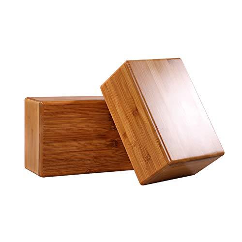 Yoga-Block Yoga Ziegel Yoga Matte Yoga-Stein, Bambus Und Holz Yoga-Block, Natürlicher Umweltschutz Hilfsstein, Pilates, Fitness, 23 * 15 * 7,5 Cm