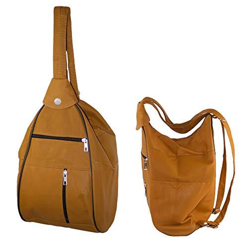 Dazoriginal Donna Borse a Tracolla Pelle Crossbody Bag Hobo Mano Borsa a Spalla (Pastel)