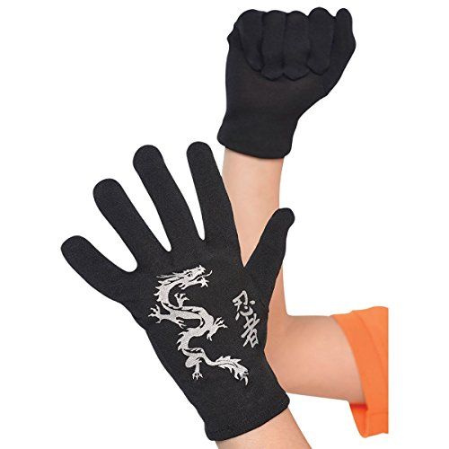 amscan Child Ninja Gloves One Size, Multicolor, (Model: 840033)