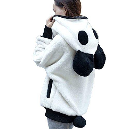iHENGH Damen Mantel Top,Ladies Warm Niedlicher BäRenohr Panda Winter Warm Hoodie Mantel Frauen Kapuzenjacke Oberbekleidung Coat Tops